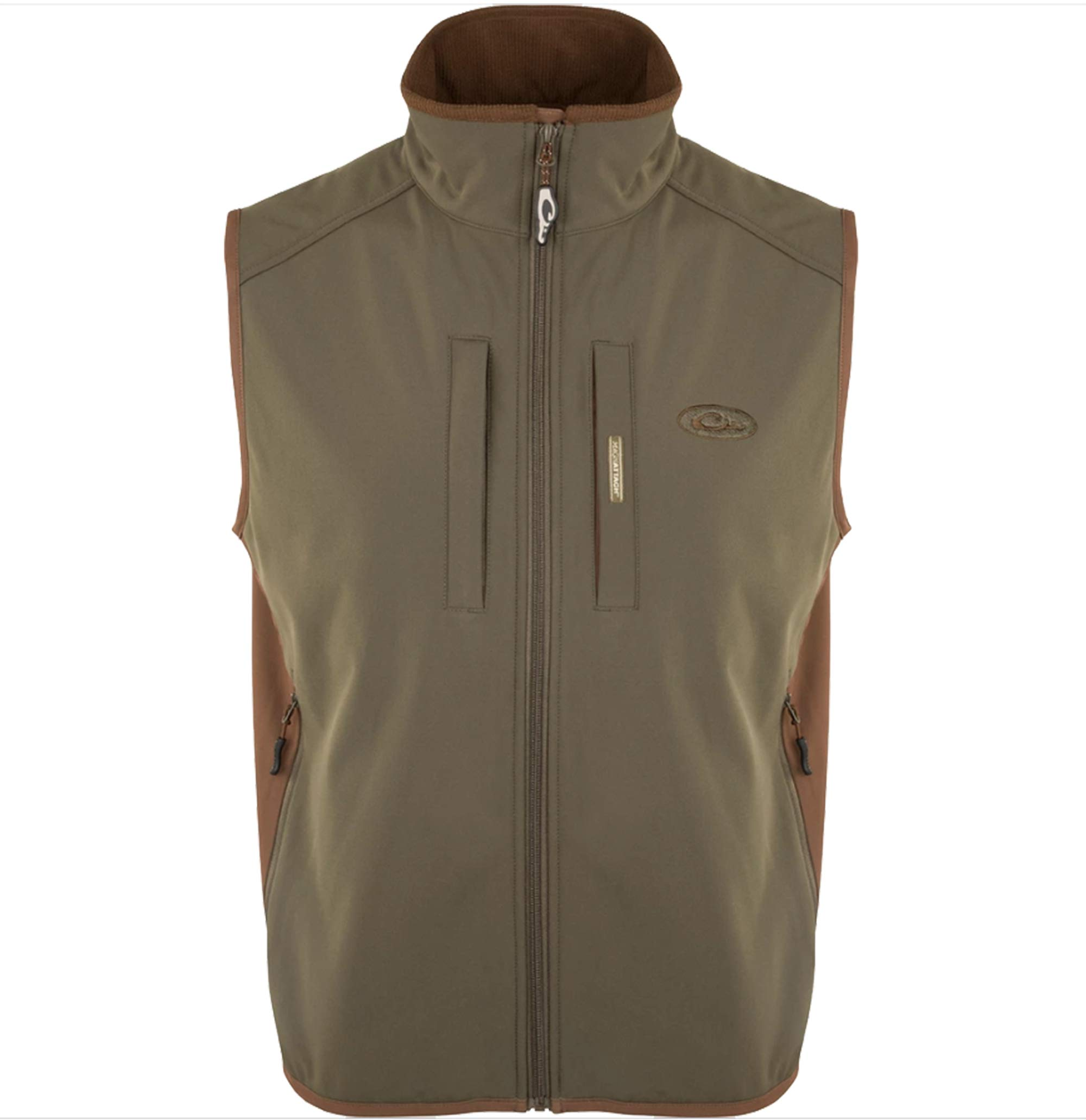 Drake Waterfowl Windproof Tech Vest, Olive/Brown- 2XL by Drake
