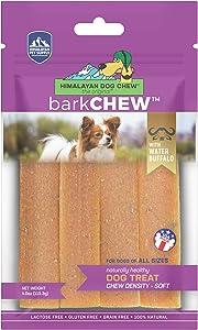 Himalayan Pet Supply barkCHEW with Water Buffalo | Medium Density Chew | Gluten - Lactose - Grain Free | 6 Chews per Pouch