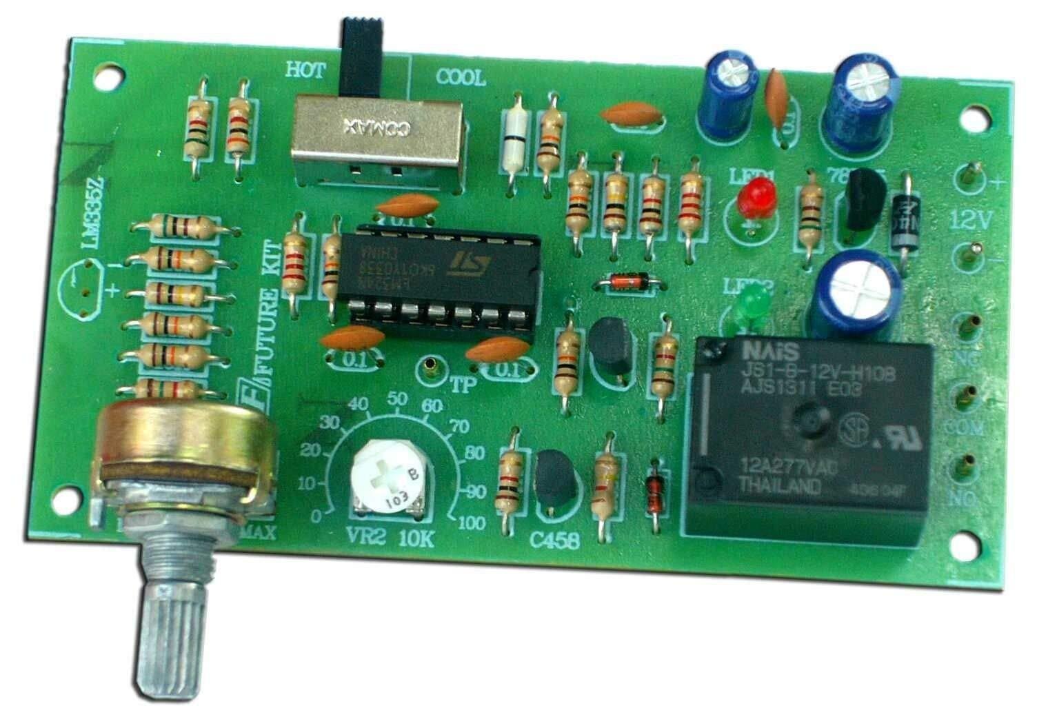 12V Temperature Control/Thermostat 0˚ to 100˚C Kit [ Assembled Kit ]