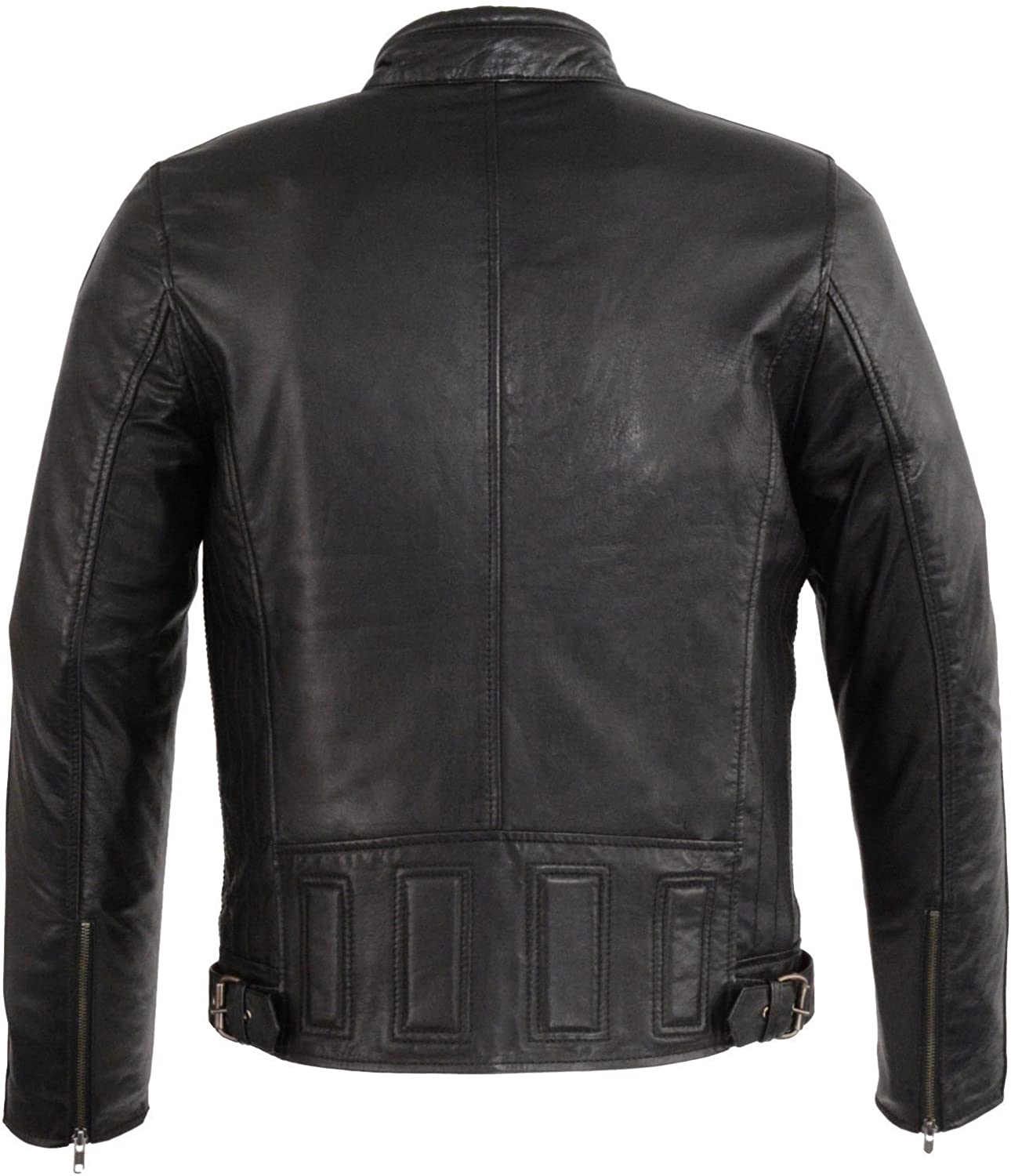 Mens Fashion blk Classic Butter Soft Winter Spring Warm Leather Jacket New S