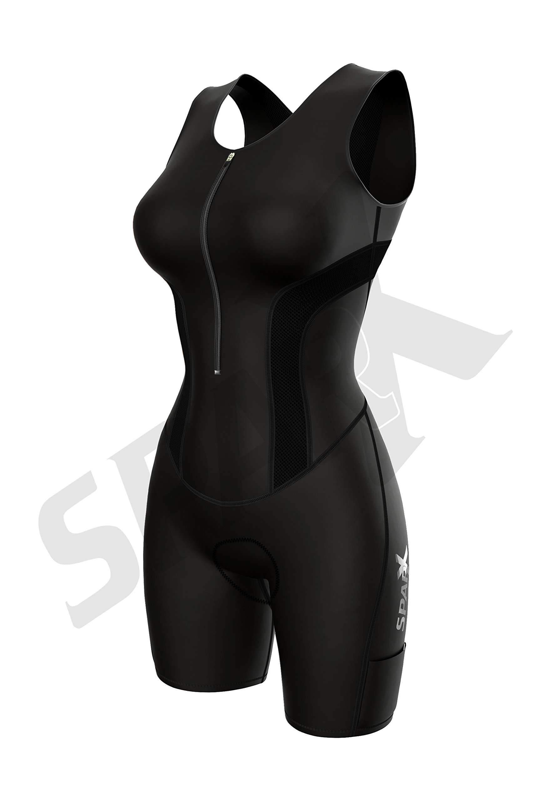 Sparx Women Triathlon Suit Tri Short Racing Cycling Swim Run (Small, Black) by Sparx Sports (Image #2)