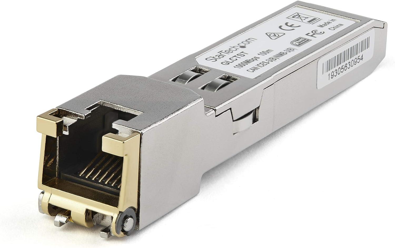 StarTech.com Dell EMC SFP-1G-T Compatible SFP Module - 1000BASE-T - SFP to RJ45 Cat6/Cat5e - 1GE Gigabit Ethernet SFP - RJ-45 100m - (SFP1GTEMCST)