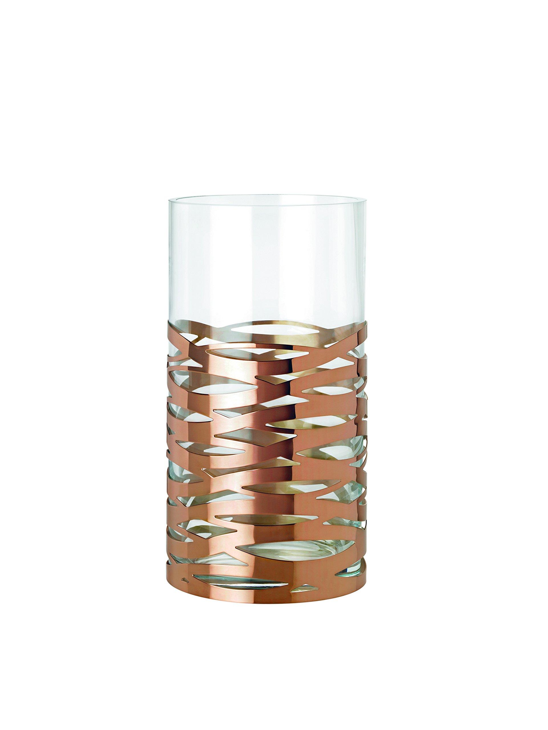Stelton Tangle Vase Magnum, Table Vase, Floor Vase, Glass, Stainless Steel, H 35.5 cm, X-56-2