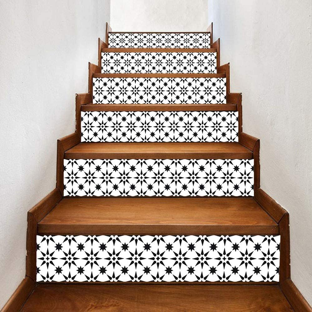 10 Pcs Stair Stickers Wall Acrylic Mirror Effect Word Art Stair Decals Design DIY Self-Adhesive Decoration Removable Wallpaper for Home Living Room Bedroom Bathroom Kitchen Decor Mural Quotes Gold