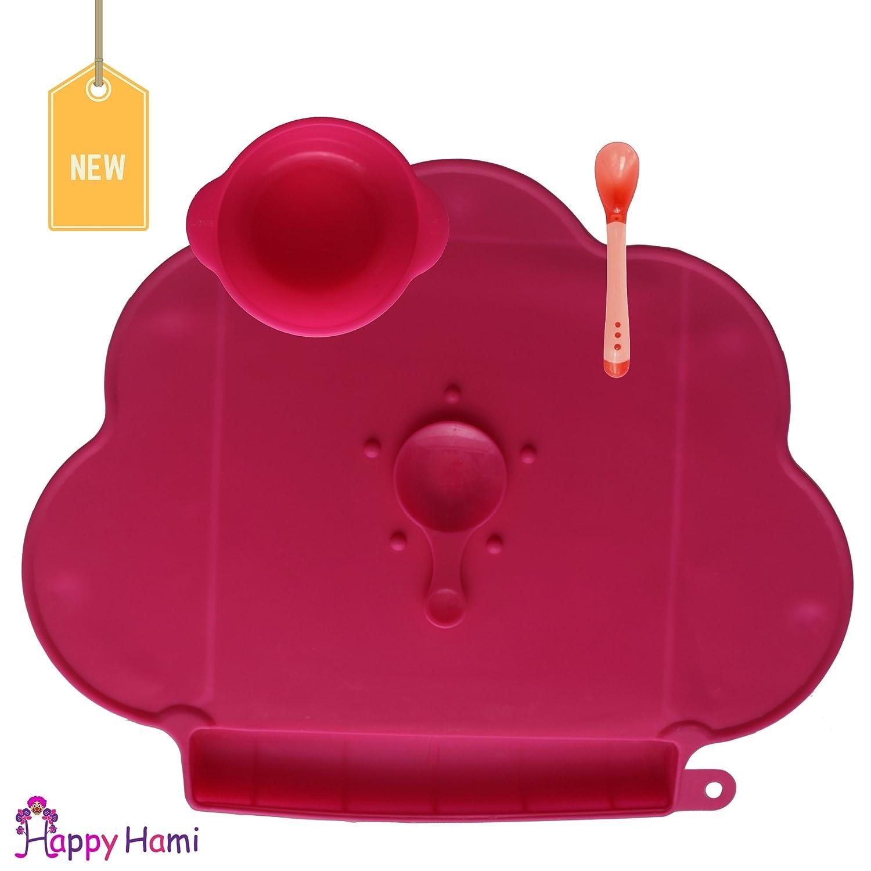 Set de table–Set de table par Happy Hami bébé, le meilleur pour nettoyer, Mess-Free et Happy salle à manger, livré avec bol supplémentaire, idéal pour bébé, enfant, enfants pour tous les âges. Saine Mettez simplement quelques Fruits, Légumes, Place à la