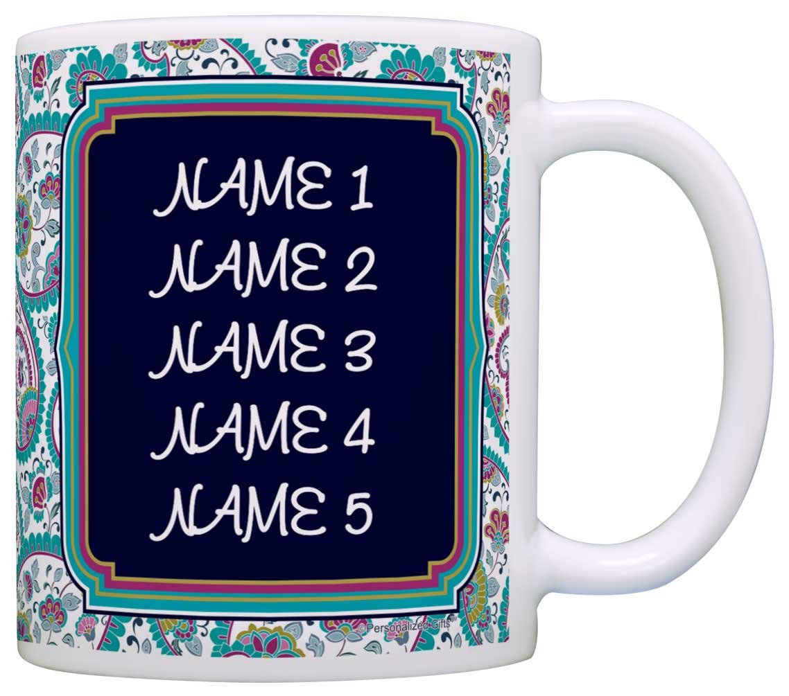 Personalized Mothers Day Gift Keep Calm Grandma Will Take Care of It Gift Coffee Mug Tea Cup Paisley