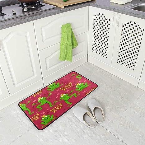 Cartoon Flanella Cucina Tappeto Bagno Bagno Assorbente Tappetino Antiscivolo per Uso Domestico 40X60Cm Gatto Carino Giallo