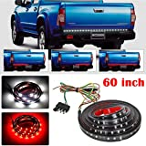 """Truck Tailgate LED Strip Light Bar, LinkStyle 60"""" Side Bed Light Strip Bar 5 Function Turn Signal Parking Brake Reverse Lights for Dodge Ram Truck RV SUV Jeep Pickup Toyota Chevy GMC Red White"""