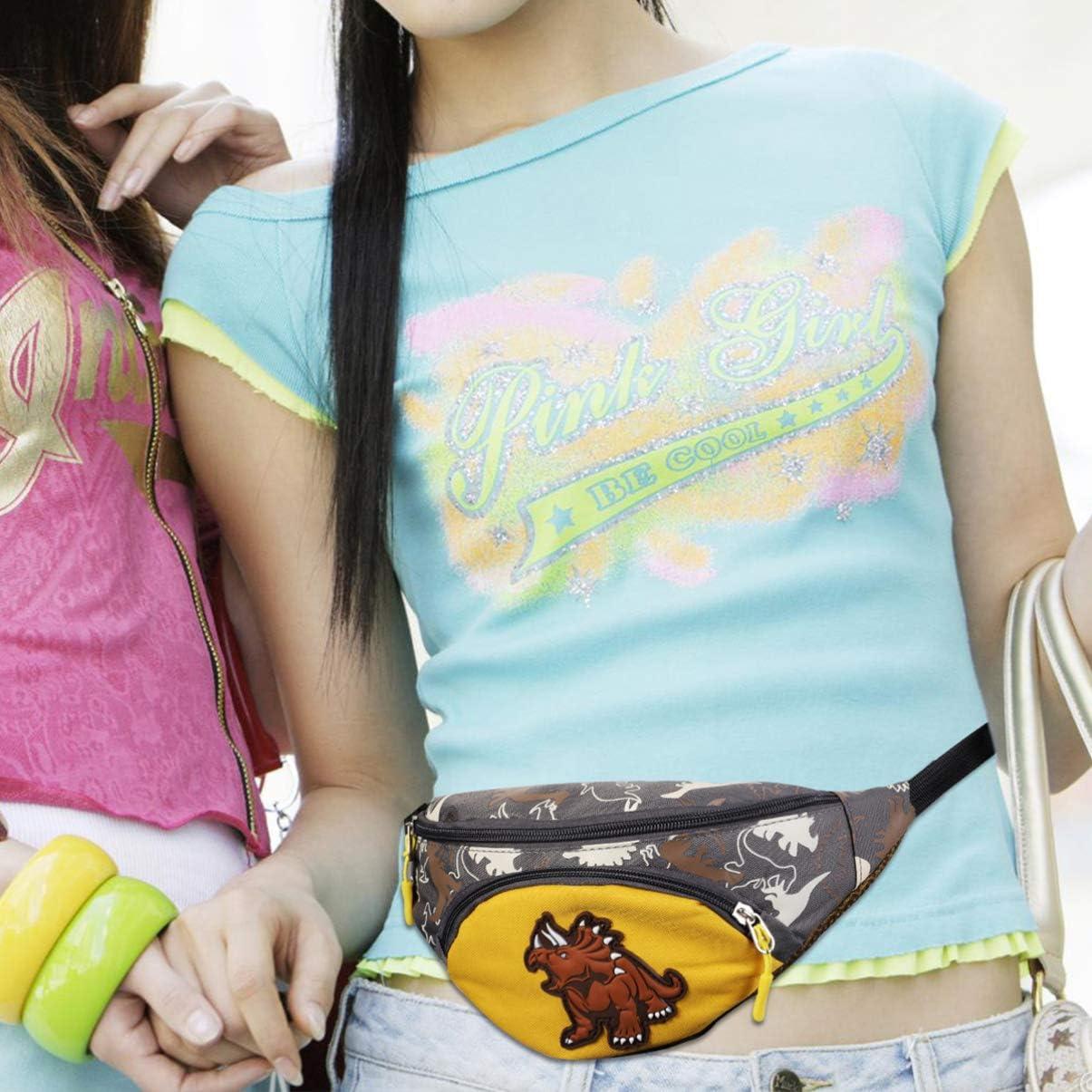 TENDYCOCO Pack Banane pour Enfants Dessin anim/é Mignon Dinosaure Taille Sac Poitrine Sac Pochette pour Les Tout-Petits Adolescents-Jaune