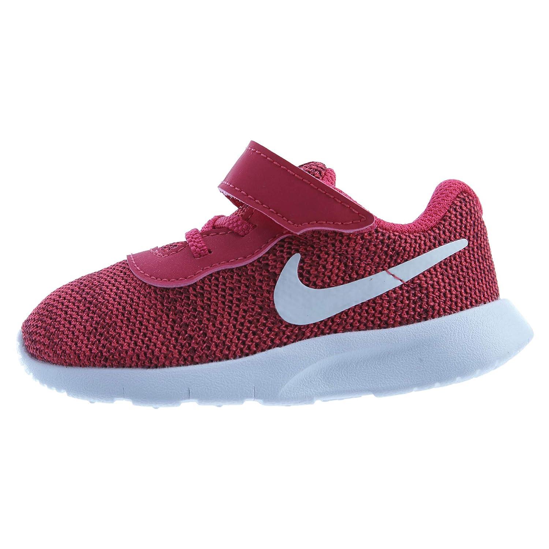 818386-603 Size Nike Tanjun Girl Athletic Shoes White Blue Yellow Pink Boys//Girls Style 6