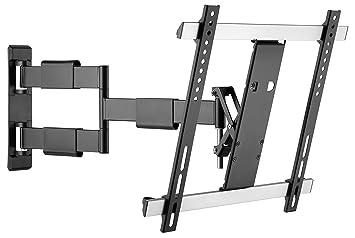 RICOO TV Wandhalterung S3344 Fernseh Universal Halterung Schwenkbar Neigbar  Aufhängung Curved LCD Fernseherhalterung Wand Halter Flach