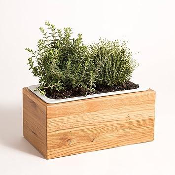 Kräuterbeet Küche kräuterbox aus eiche massivholz ihr kräuterbeet für ihre küche 54