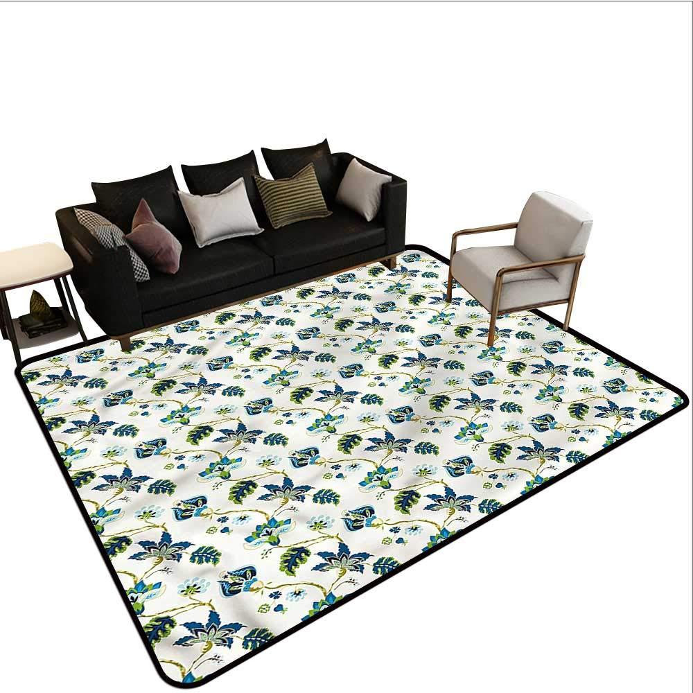 "B07SNPLJKC Jacobean,Rug Bathroom Mat 80""x 120"" Fantastic Flowers Oriental American Floor mats 71pC19GAynL._SL1000_"