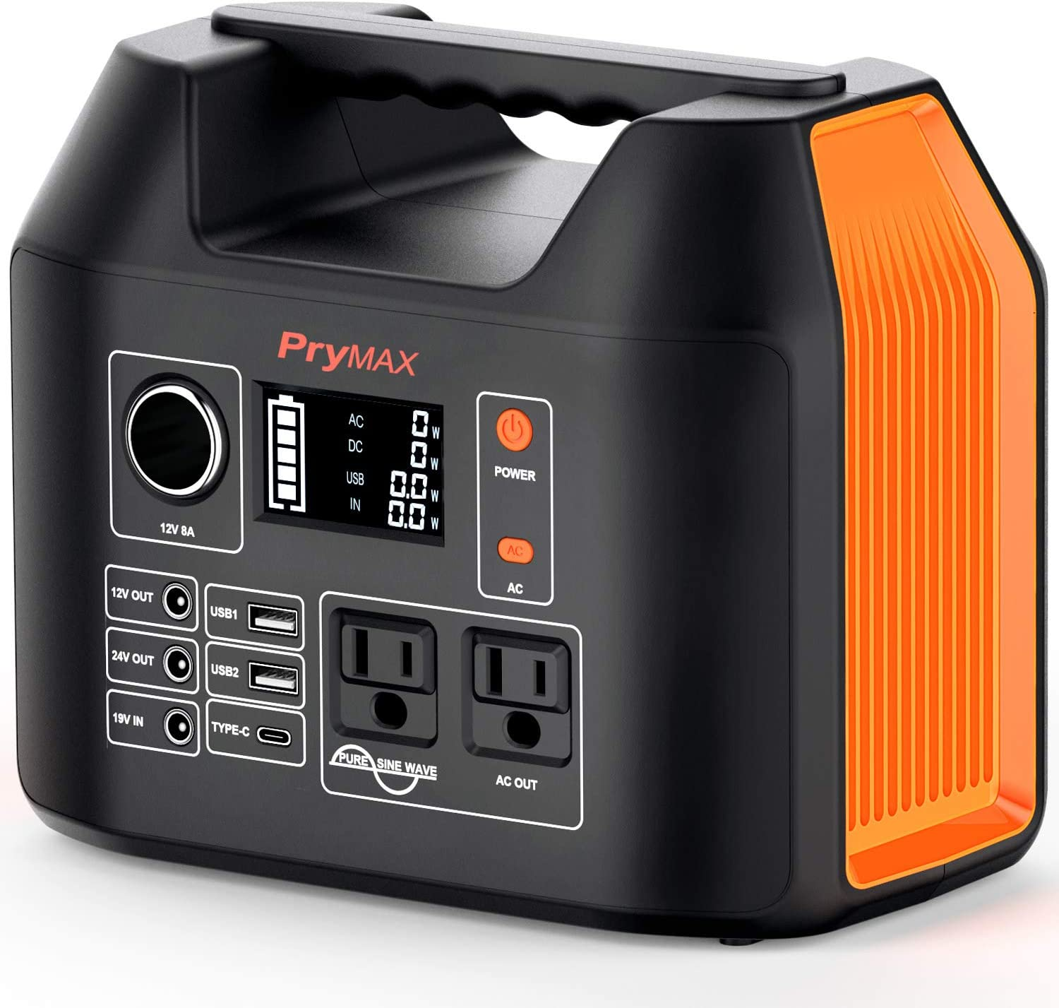 PRYMAX Portable Power Station, 300W Solar Generator