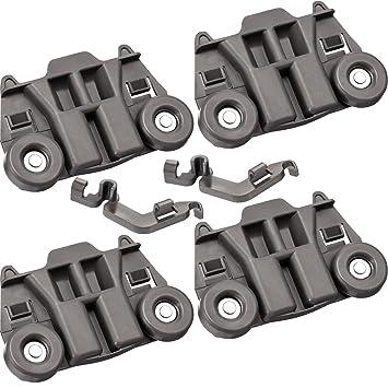 4 piezas W10195417 repuesto de rueda inferior para lavavajillas y ...