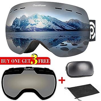 4710d12cd0f ChantPower Ski Goggles - 2 Lenses Included