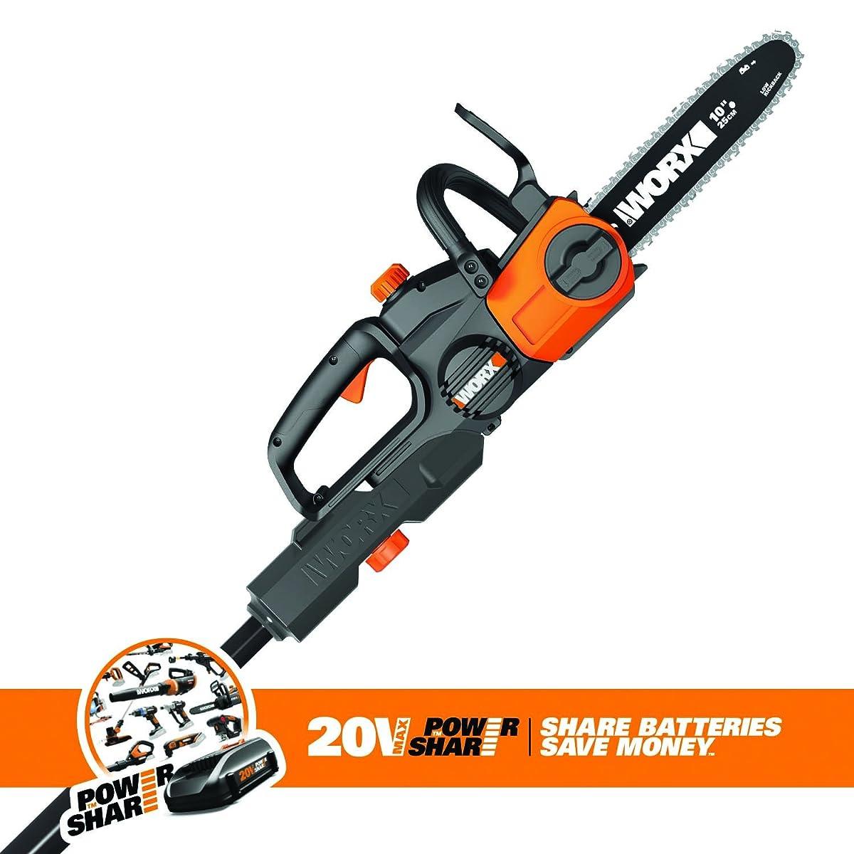 Worx WG323 20V Cordless Pole Chain Saw