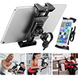 Bike Tablet Holder, Portable Bicycle Car Phone Tablet Mount for Indoor Gym Treadmill, Microphone Stands, Microphone Tablet Ho