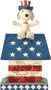 "Enesco Peanuts by Jim Shore Snoppy Home of the Brave Figurine, 7"", Multicolor"
