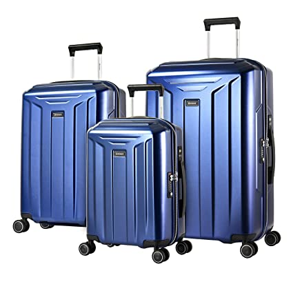 1b8a38983 Eminent Luggage Set Guard 3 pcs Integrated Digital Scale 4 Silent Double  Wheels TSA Lock Blue: Amazon.co.uk: Luggage