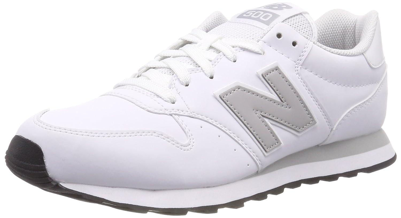 New Balance Gm500 D 14e - Zuecos Hombre 44.5 EU|Blanco (White/Rain Cloud/White Wwg)