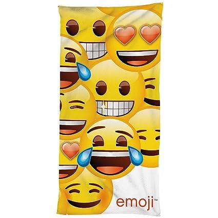 Serviette De Bain Originale.Beronage Original Neuf Emballage D Origine Emoji Serviette De Bain 75 Cm X 150 Cm 100 Coton Serviette De Plage Plage Serviette Serviette De