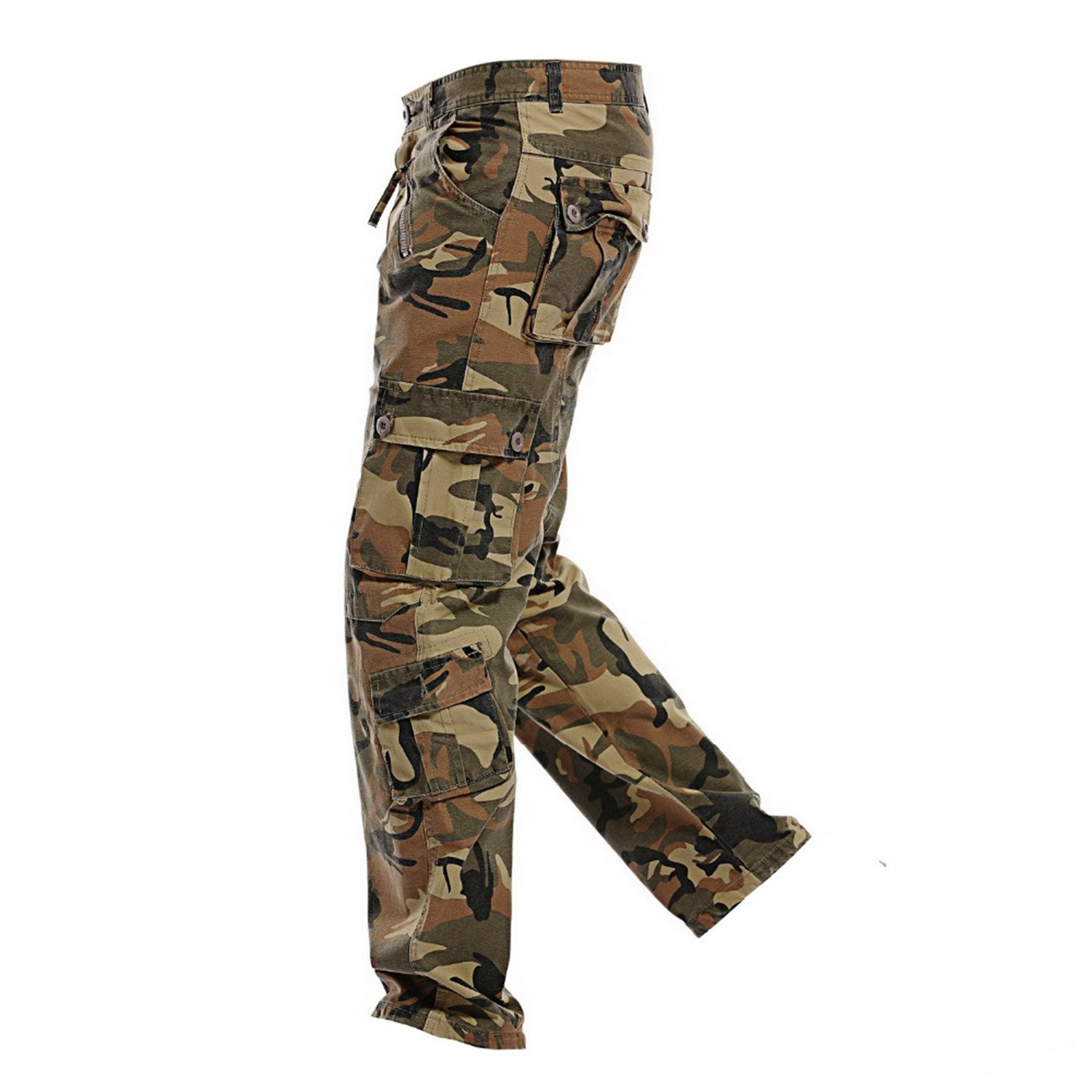 5fdf40532af1 ... Grass Green Ivan Johns Pants Multi-Pocket Military Military Military  Army Camouflage Pants Men Casual ...