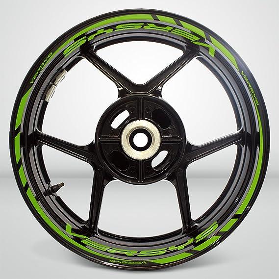 Matte Verde Ruote Moto Cerchione Decalcomanie Accessorio Adesivi per Kawasaki Versys