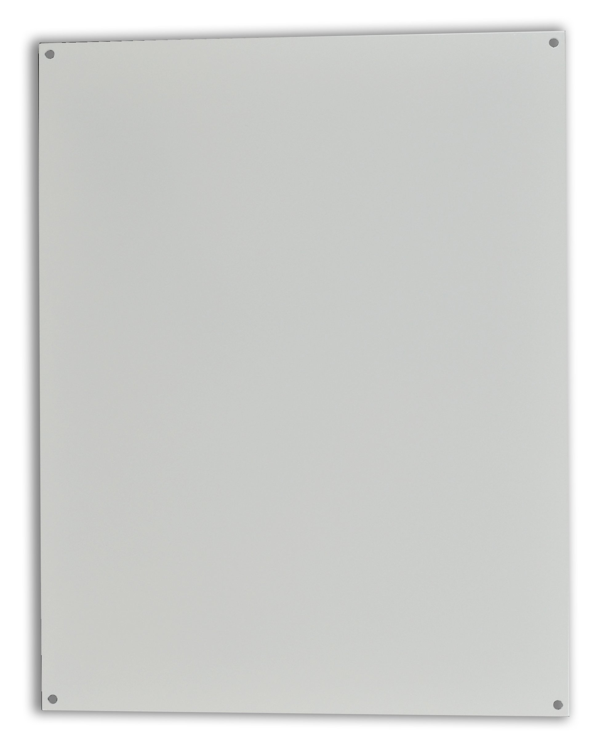 Allied Moulded P206 White Painted Carbon Steel Back Panel for AM Series or Ultraline Series Fiberglass Enclosures