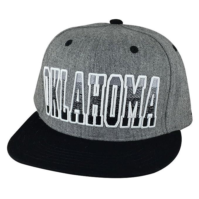 Oklahoma City Heather Gradient 2Tone Snapback Hat Cap - Grey   Black ... 40d6df59e34