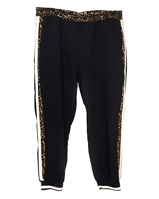 387d0e7e8c9adc Zara Women's Jogging Trousers with Snakeskin Print Taping 5039/246 (Small)  Black