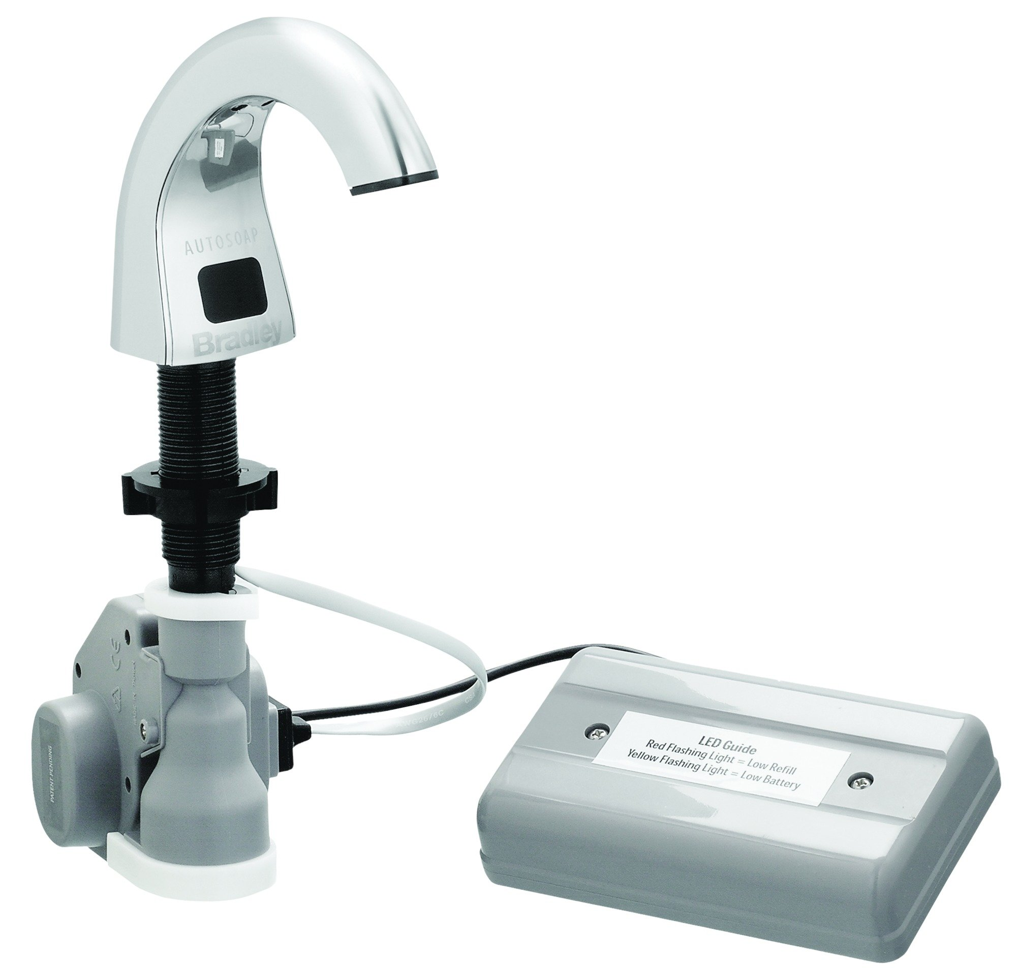 Bradley Corporation 6315-KT0000 Bradley 6315-KT0000 Liquid Soap Dispenser, Deck Mount by Bradley