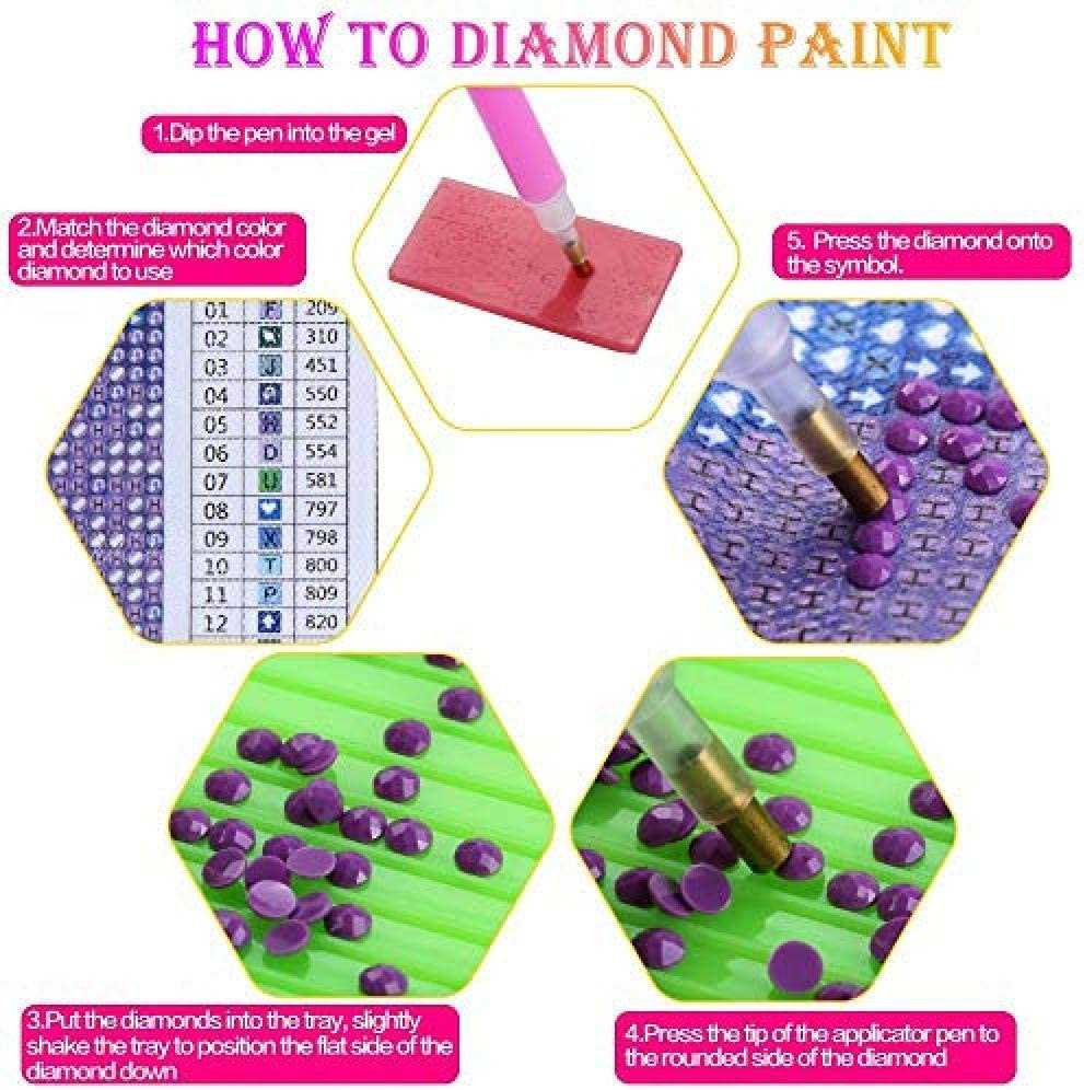 Zyycj Diy 5D Diamond Painting Kit For Adults Full Drill Embroidery Rhinestone Pasted Cross Stitch Arts Crafts For Home Wall Decorn Halloween Owl 30x40cm//12x16inch