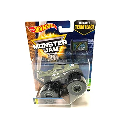 Hot Wheels Monster Jam Truck Shark Shock 2020 New Look - Team Flag Series Creatures 6/10: Toys & Games