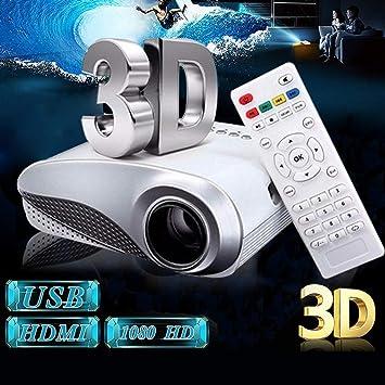 Opinión sobre Nuevo Clear Mini portátil 1080P 3D HD LED Proyector Multimedia Home Theater USB VGA HDMI TV Sistema de Cine en casa