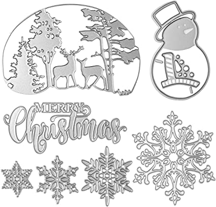 Christmas Cutting Dies Stencils DIY Scrapbooking Album Xmas Paper Card Crafts