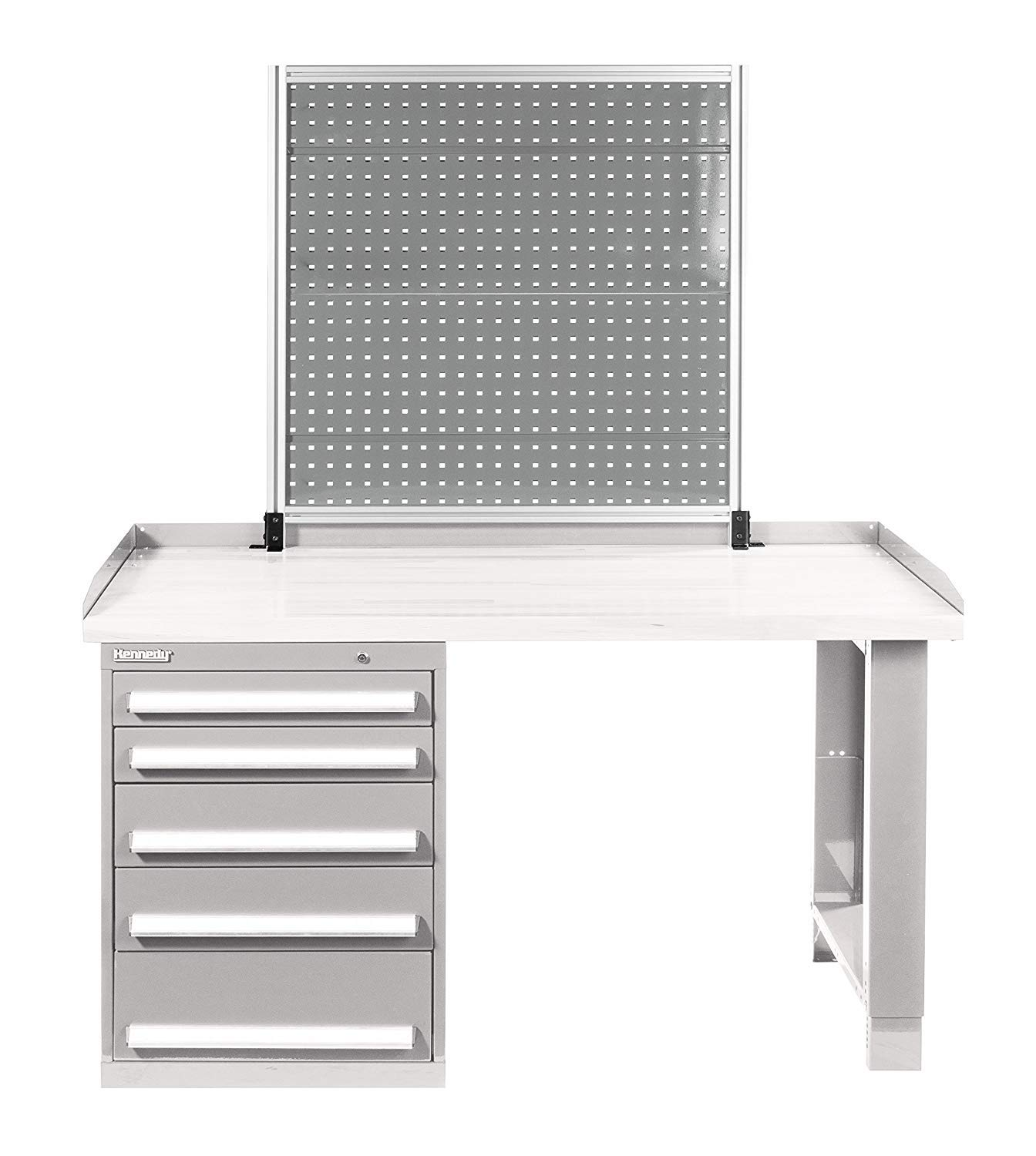 Kennedy Manufacturing 50070UGY Kennedy Gray Bench-Mount Pegboard, 39'' x 1-1/2'' x 40'', 40'' Height, 39'' Wide, 1.5'' Length, Pounds
