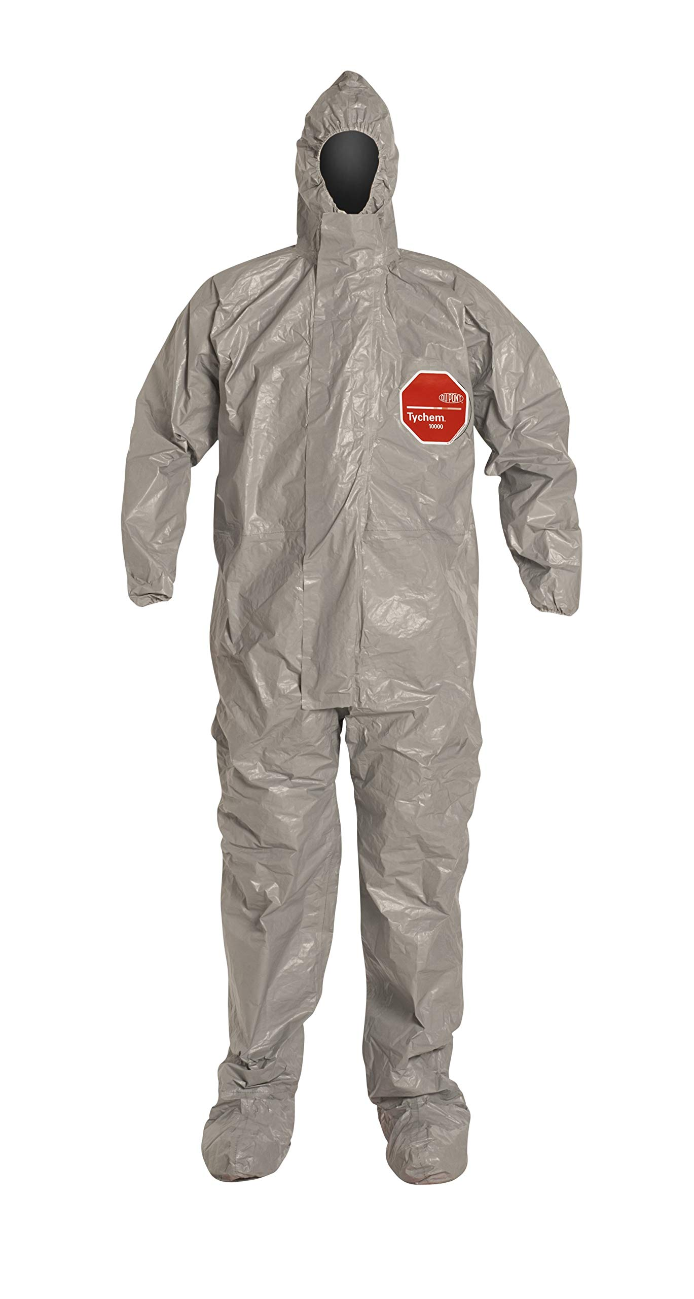 DuPont TF169TGY2X000600 Tychem 6000 Coverall with Boot, Xx-Large, Gray (Pack of 6)