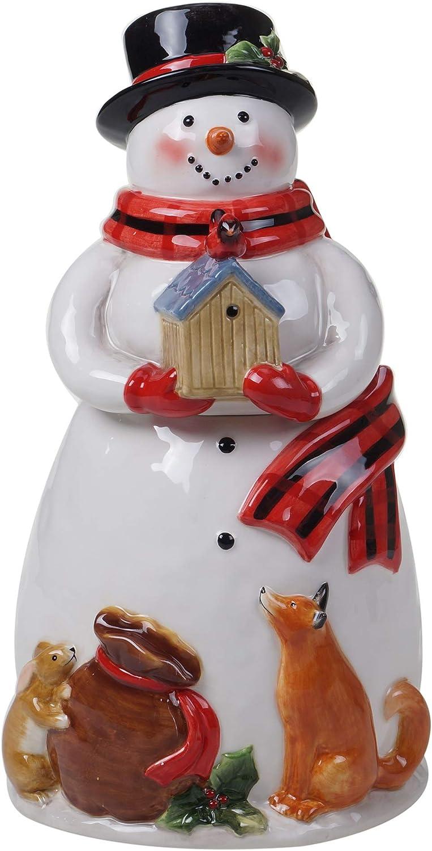 Certified Free shipping / New International Magic Of Christmas unisex Cookie Snowman Jar Sa