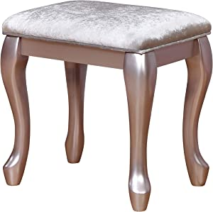 Coaster 400898-CO Vanity Stool, Metallic Lilac