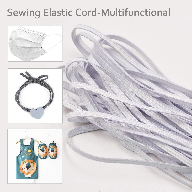 10 Metres Black Elastic Band Cord 3mm Width Flat Sewing Elastic String Ribbon for Clothing DIY Crafts