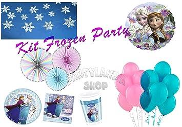 Partylandia Kit de Fiesta de cumpleaños Frozen para 16 ...