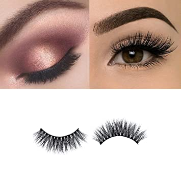 54a4faca622 Amazon.com : 3D Mink Eyelashes Mink Lashes Strips Long Thick False Eyelashes  Natural Handmade Reusable Faux Mink Lashes 3D Style for Makeup by JKC :  Beauty