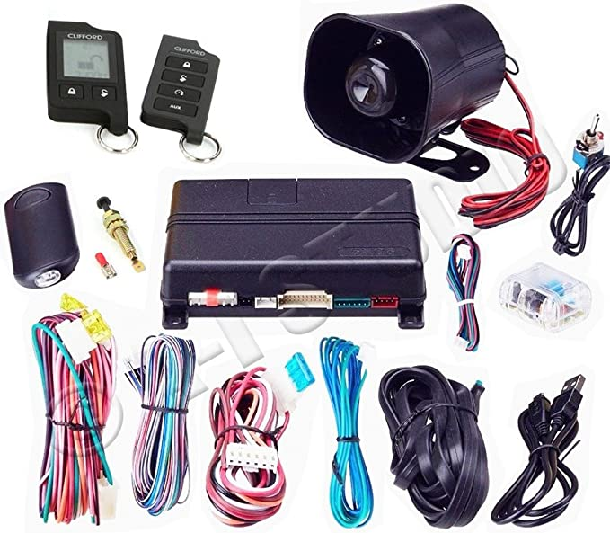 amazon com clifford 5706x 2 way lcd hybrid system cell phones fog lights wiring diagram clifford 5706x 2 way lcd hybrid system