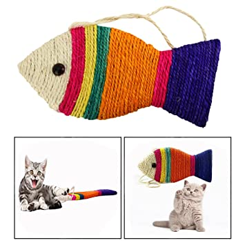 OFKPO Juguetes para Gatos, Gato Rasguño Junta Rascarse Pad Juego Juguete Divertido pez Forma Regalo: Amazon.es: Electrónica