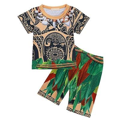 TiaoBug Maui Kids Boys Pajamas Sets 2 Pcs Tops and Pants Cartoon PJS Sleepwear