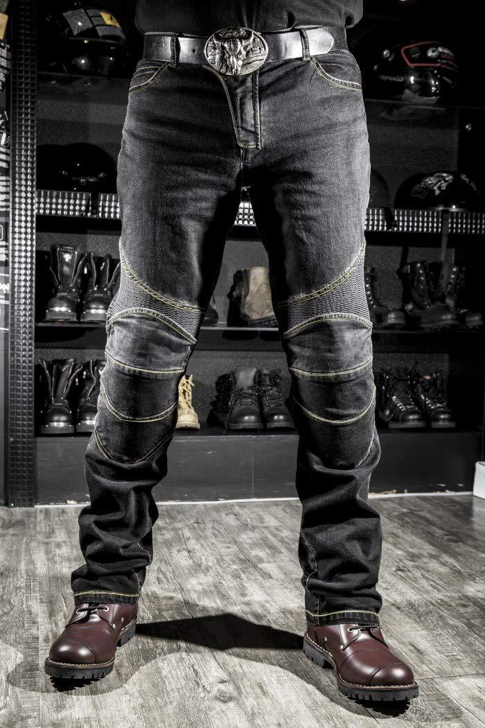 WildBee Pantaloni da equitazione protettivi off-road Jeans lunghi e traspiranti con cuscinetti protettivi