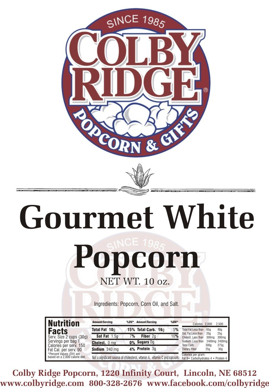 8 Gal. (128 Cups) Popcorn Sampler Colby Ridge Popped Popcorn by Colby Ridge (Image #6)