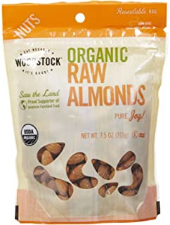 product image for Woodstock Farms Organic Almonds, 7.5 Ounce