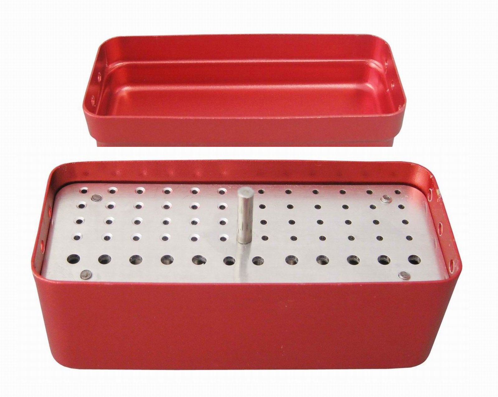 Aphrodite 72 Holes Bur Holder Sterilizer Case Disinfection Box 3 Used Red Dual core